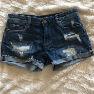 Blanknyc the Fulton distressed shorts